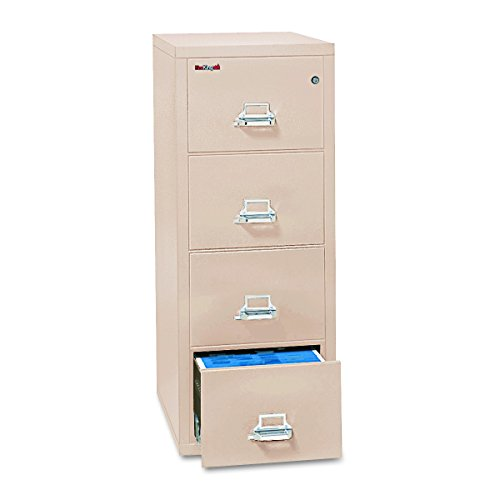 FireKing 42125CPA 20-3/4_inch by 25-Inch Insulated 4-Drawer Vertical Legal File, Parchment by FireKing