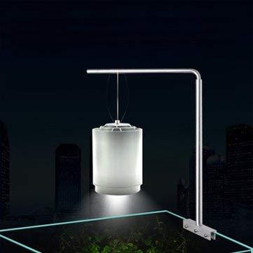 Universal Aluminium Aquarium Hanging Stand Holder For Fish Tank Plant Lamp - Indoor Lighting LED Gadgets - 1 X Aquarium Light Fixture, 1 X Installation Hardware Kit ()