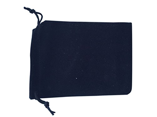 DTOL 50 Pieces Wholesale Lot - Black Velvet Cloth Jewelry Pouches/Drawstring Bags 3 from DTOL