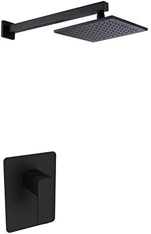 SISHUINIANHUA Duschsystem Einzelfunktion Black Bronze Top Spray Wasserhahn European Invisible Shower Head [Energieklasse A]