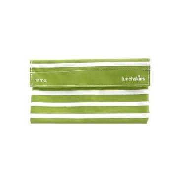 Amazon.com: Lunchskins bolsa de merienda – raya verde: Baby