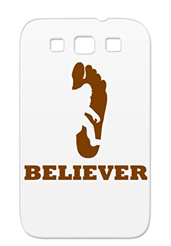 Foot Brown Funny Sasquatch Miscellaneous Print Bigfoot Believer Believe Silhouette Footprint TPU For Sumsang Galaxy S3 Bigfoot Believer Cover Case