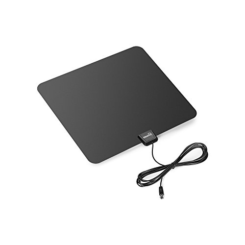 ViewTV Flat HD Digital Indoor TV Antenna - 30 Miles Range - Full HDTV & ATSC Compatible - 10ft Coax Cable - Black (Best Zip Codes In Philadelphia)