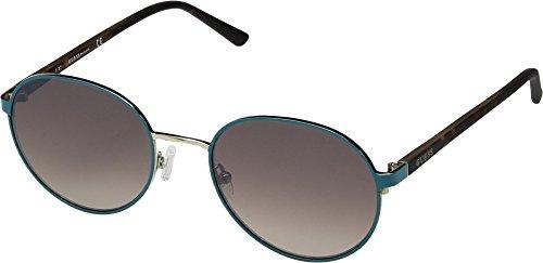 GUESS Women's GU3027 Matte Turquoise/Gradient Brown One Size (Sonnenbrille Damen Guess)