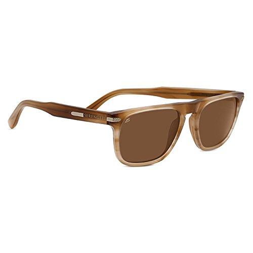 Serengeti 8152 Enrico Sunglasses, Crystal Wood Frame, Polarized Drivers - Serengeti Drivers Best Sunglasses