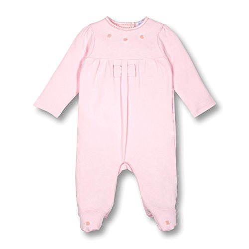 Le Top Bebe Precious In Pink Baby Girl Footed Jumpsuit Onesie With Rosebud-3M (Outfit Rosebud)