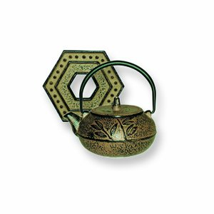 Japanese Tetsubin Gold Metallic Leaf Teapot 10oz BIGkitchen COMINHKPR14886