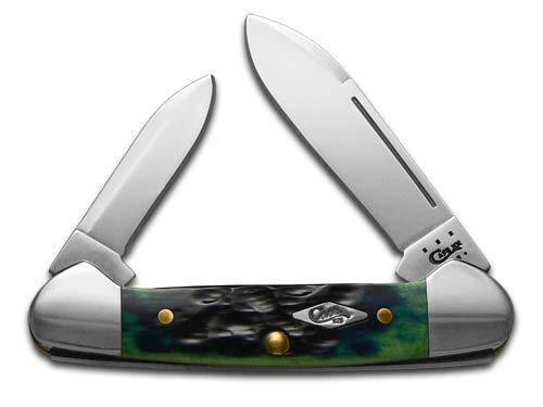 Case Hunter Green Bone 62132 SS Baby Butterbean Folding Knife,2.75in 16057