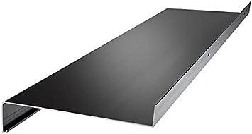 anthrazit silber dunkelbronze Aluminium Fensterbank Zuschnitt auf Ma/ß Fensterbrett Ausladung 180 mm wei/ß