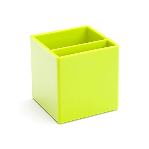 Poppin Pen Cup Holder Lime Green Office Desk Organizer Accessories (Large Image)