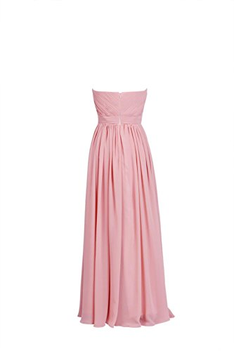 YiYaDawn Langes Brautjungfernkleid Abendkleid Ballkleid für Damen Weinrot iPu3pOoxrj