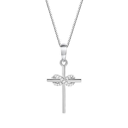 - Diamond Necklace in 10k White Gold (1/20 cttw)