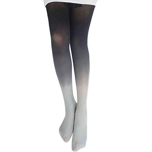 Price comparison product image Hot Sale!!Womens Vintage Gradient Bodystockings Tights Stockings Fashion Trend Pantyhose Socks (Grey)