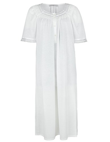 Feraud Champagne Cotton Short Sleeve Nightdress With Lace Neckline 3883120-10044 10 UK/36 EU by Feraud (Image #1)