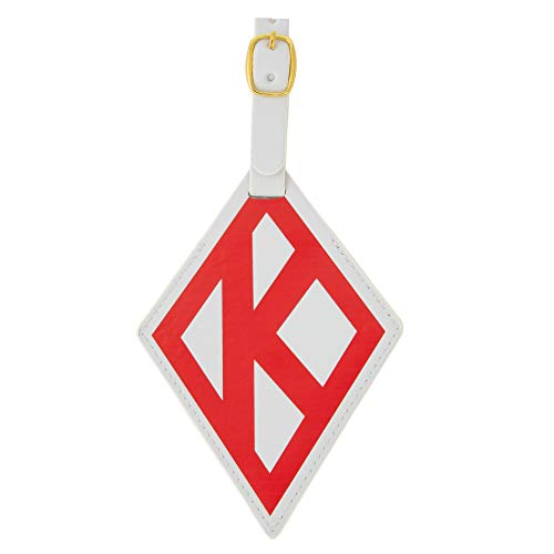 Kappa Alpha Psi Fraternity Diamond Faux Leather Luggage Tag Bag Nupe (Diamond Luggage Tag) ()
