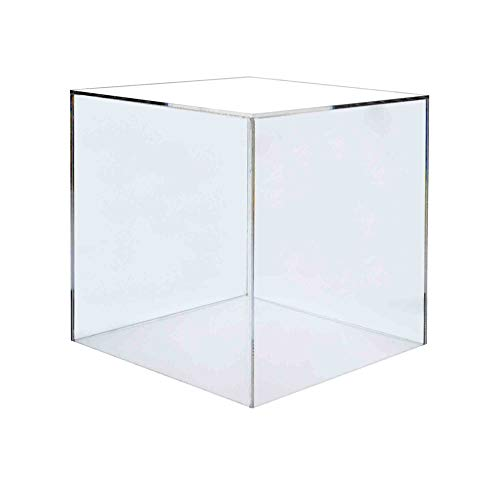 Marketing Holders Pedestal Display Box Showcase Cube Display Collectible Cover Trinkets Trophy Display 5 Sided Square Activity Cube 14