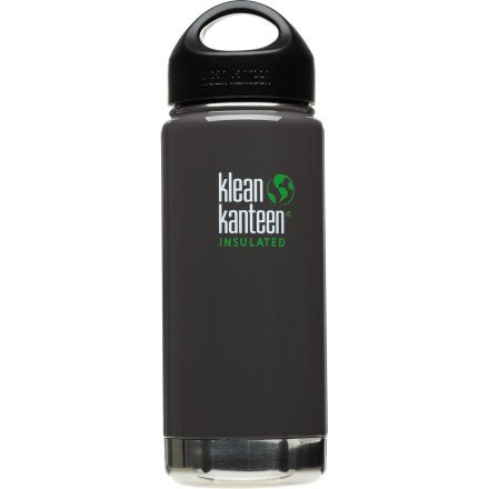 Klean Kanteen 16oz Insulated Bottle Albatrosse Gray, One Size, Outdoor Stuffs
