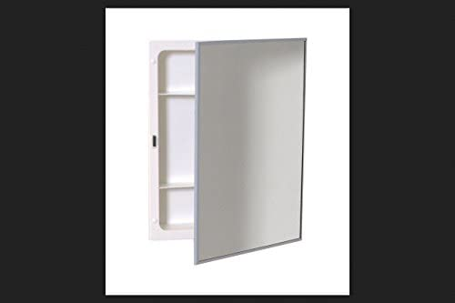 Amazon Com Zenith Products X311 Stainless Steel Frame Swing Door Medicine Cabinet Surface Or Recess Mount 16 13 X 20 13 X 4 Home Kitchen