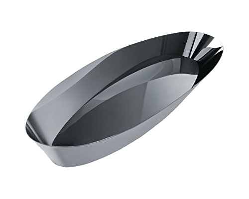 Alessi ''Pinpin'' Bread Basket in 18/10 Stainless Steel Mirror Polished, Silver by Alessi