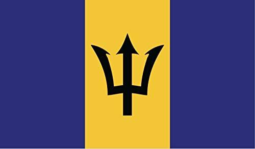 JB Print Barbados Flag Vinyl Decal Sticker Car Waterproof Car Decal Bumper Sticker ()