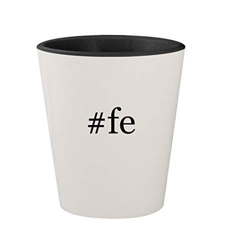 - #fe - Ceramic Hashtag White Outer & Black Inner 1.5oz Shot Glass