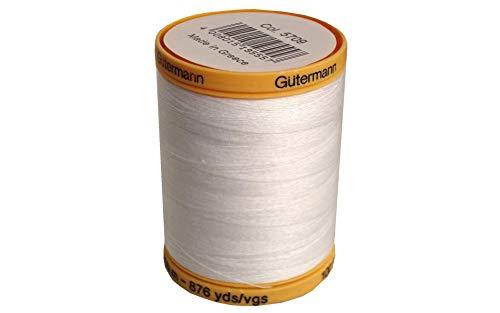 - Gutermann 25049 Natural Cotton Thread Solids 876 Yards-White