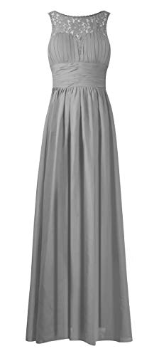 VaniaDress Women A Line Lace See-Through Long Bridesmaid Dress Formal Gowns V285LF Gray US10 from Vania Dress