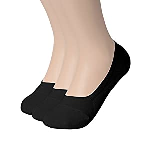 """OSABASA Womens 3 Pair Casual No-Show Socks of Hidden Flat Boat Line,KWMS09-3 Pairs-BLACK,Shoe Size 5-8 (Sock Size 8.5""""-9.5"""")"""