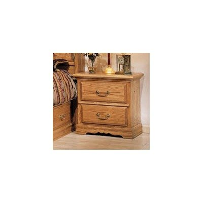Cedar Oak Dresser (Bebe Furniture Country Heirloom Collection No Carving Nightstand, Small, Medium)