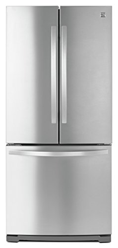 "{     ""DisplayValue"": ""Kenmore 19.5 cu. ft. Non-Dispense French Door Bottom-Freezer Refrigerator in Stainless Steel -Works with Alexa,  includes delivery and hookup"",     ""Label"": ""Title"",     ""Locale"": ""en_US"" }"