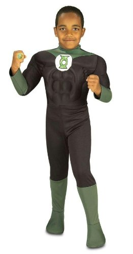 Muscle Chest Green Lantern TM Kids' Costume - S Toddler (Small)