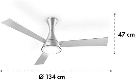 Klarstein Steeletto 2020 Edition - Ventilador de Techo con lámpara ...