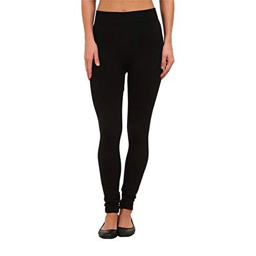 Nicole Miller Fleece Lined Seamless Leggings - Black - S/M