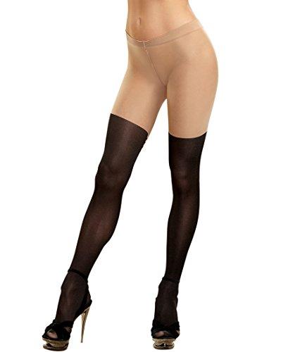Lace Up Back Pantyhose - 6