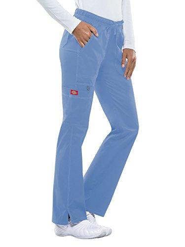 Dickies Women's Low Rise Straight Leg Drawstring Pant, Ceil, Medium