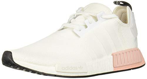 adidas Originals Men's NMD_R1 Running Shoe, White/Vapour Pink, 5 M US