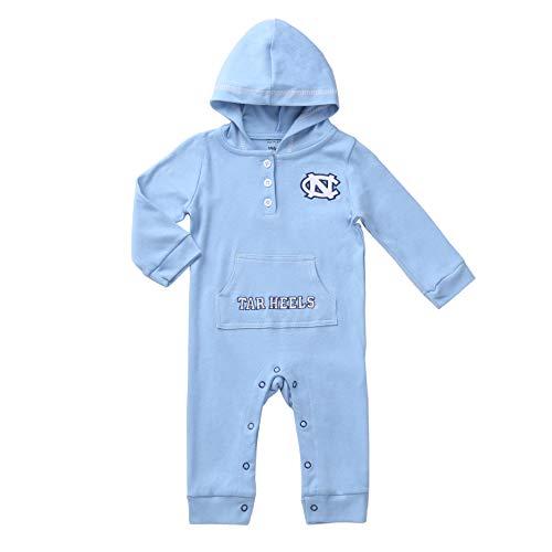 North Carolina Tar Heels Baby and Toddler Hooded Romper (12-18) Light Blue