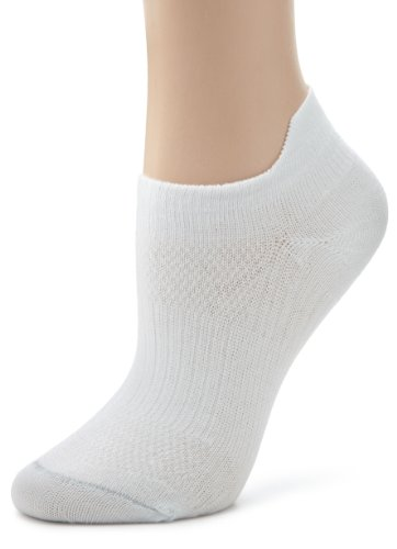 Wrightsock Women's Coolmesh Ii Tab 3 Pack Athletic Socks, White, Small