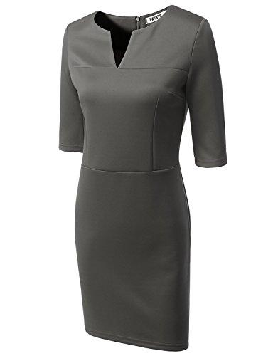 Doublju Womens V Neck Satin Dress product image