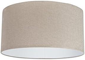 QAZQA Moderno Algodón Pantalla tela marrón claro 50/50/25, Redonda/ Cilíndrica Pantalla lámpara colgante,Pantalla lámpara de pie: Amazon.es: Iluminación