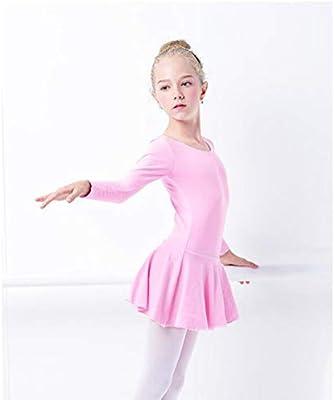 HXQXPY Gimnasia Danza Traje de Ballet de Manga Larga para Niñas de ...