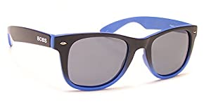 Coyote Eyewear FP-35 Floating Polarized Sunglasses, Black/Blue Fade/Gray