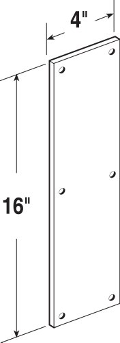 Prime-Line Products J 4626 Door Push Plate, 4-Inch x 16-Inch, Stainless by Prime-Line Products (Image #1)