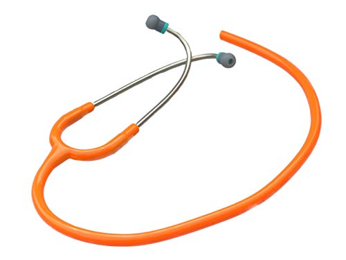 Replacement Tube by CardioTubes fits Littmann Classic II SE standard Stethoscopes - 5mm ORANGE TUBING