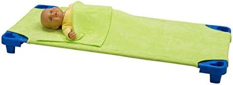 Bricout-Linge - Sábana bajera/saco de dormir para catre, esponja elástica y extensible, 55 x 130 cm
