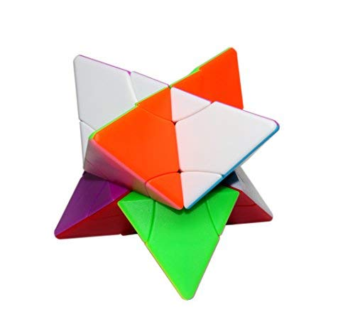 FangShi LimCube 2x2 Cube Transform Pyramid Twin Towers Stickerless Cube Professional Twist Cube Puzzles IQ Challenge Brainteaser Puzzle Perfect for Gifts /& Collection