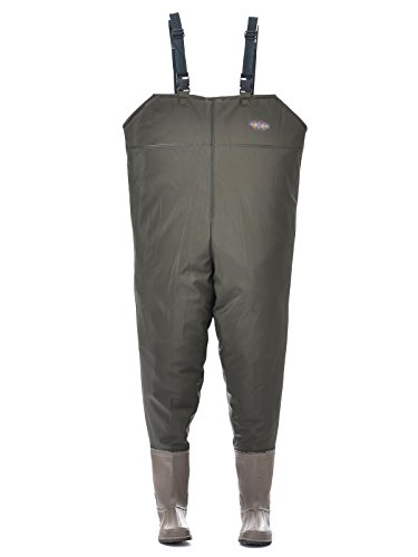 Hisea new rubber boot foot chest wader waterproof hunting for Fishing waders amazon