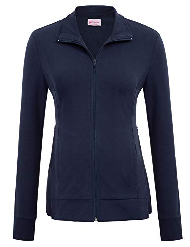 Maternity Active Side Zipper Jacket Casual Coat Warming Outwear Navy Blue - Jackets Coats Maternity