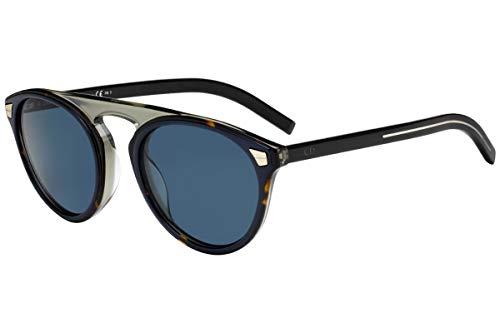 Christian Dior Homme DiorTailoring2 Sunglasses Havana Blue w/Blue Avio Mirror Lens 52mm IPRKU Dior Tailoring2 Dior Tailoring 2 Dior Tailoring2/S DiorTailoring2/S
