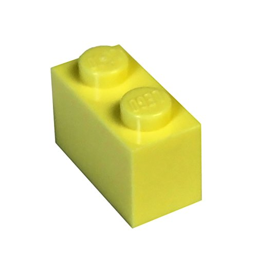 (LEGO Parts and Pieces: Bright Light Yellow (Cool Yellow) 1x2 Brick x50)
